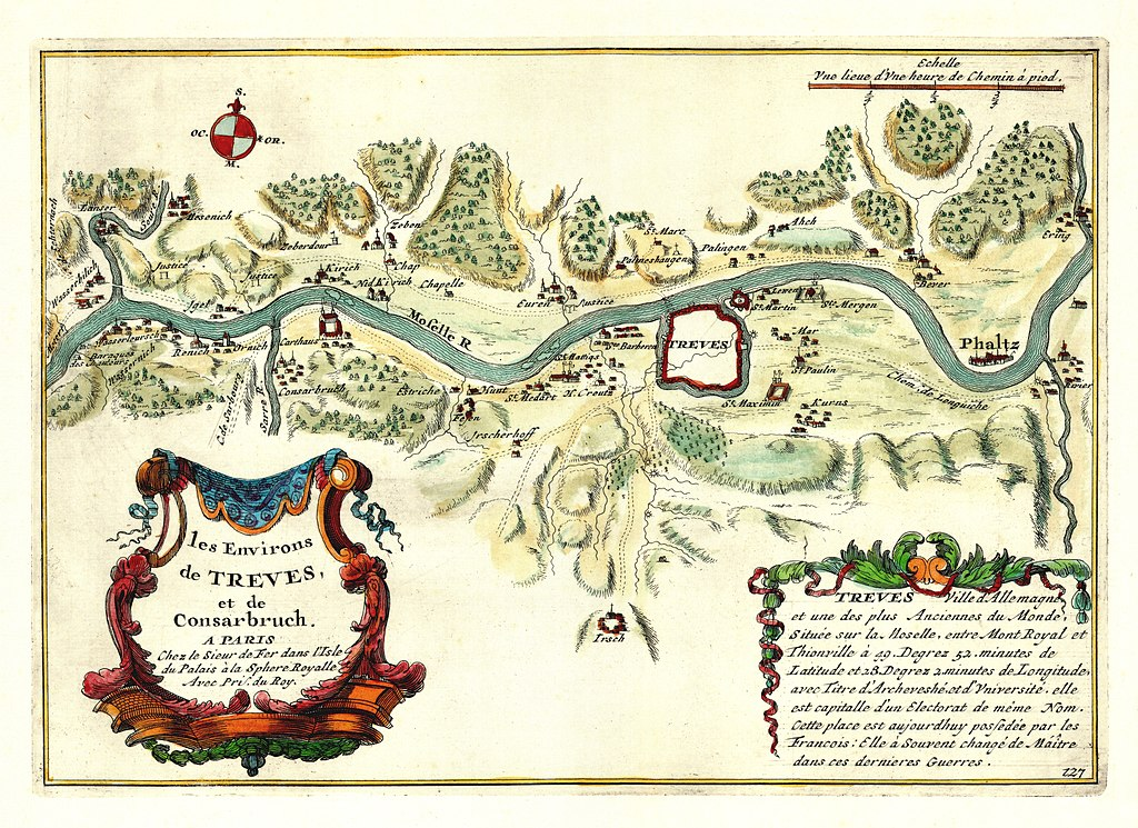 Map by Nicolas de Fer (public domain)